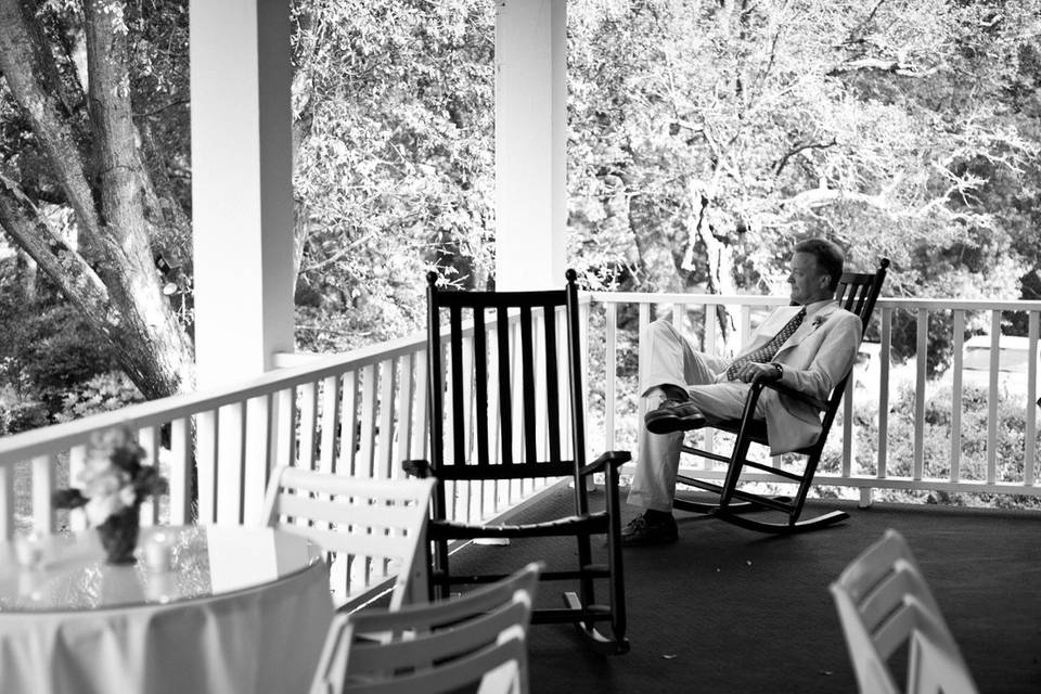 Guest relaxing on porch