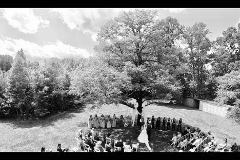 Drone Photo from Wedding