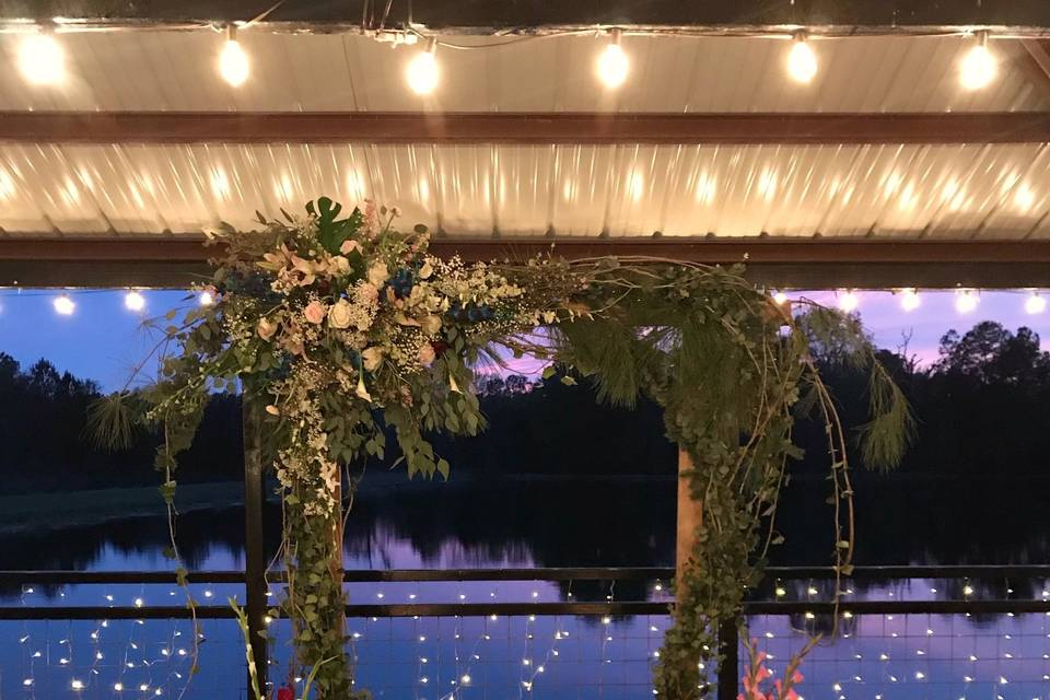 Arbor for the wedding
