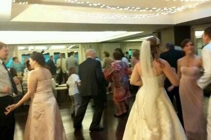 Bride and Groom enjoying the dancing