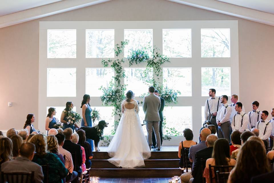 Indoor Ceremony at the Mansion