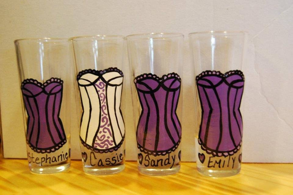 Hand Painted Glassware by Jessica