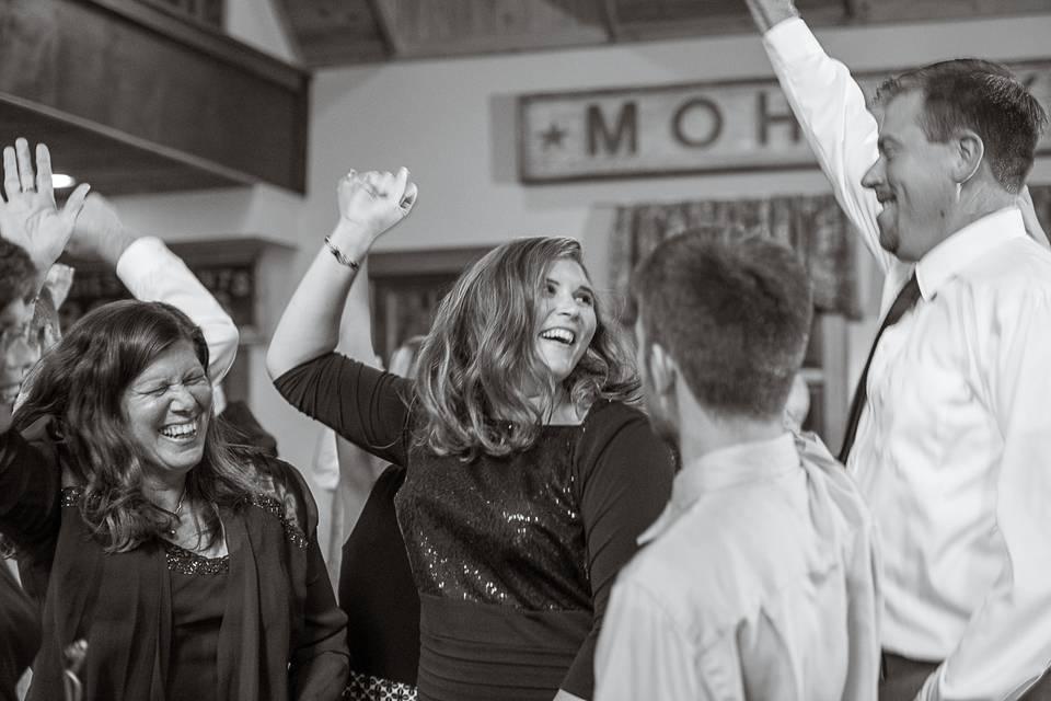 Dancing candid wedding photo