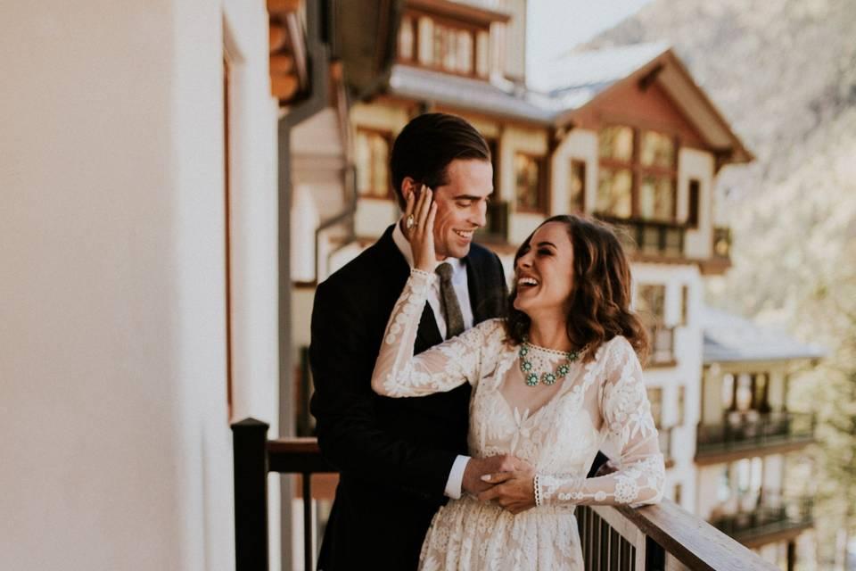 Couple on a Blake Balcony