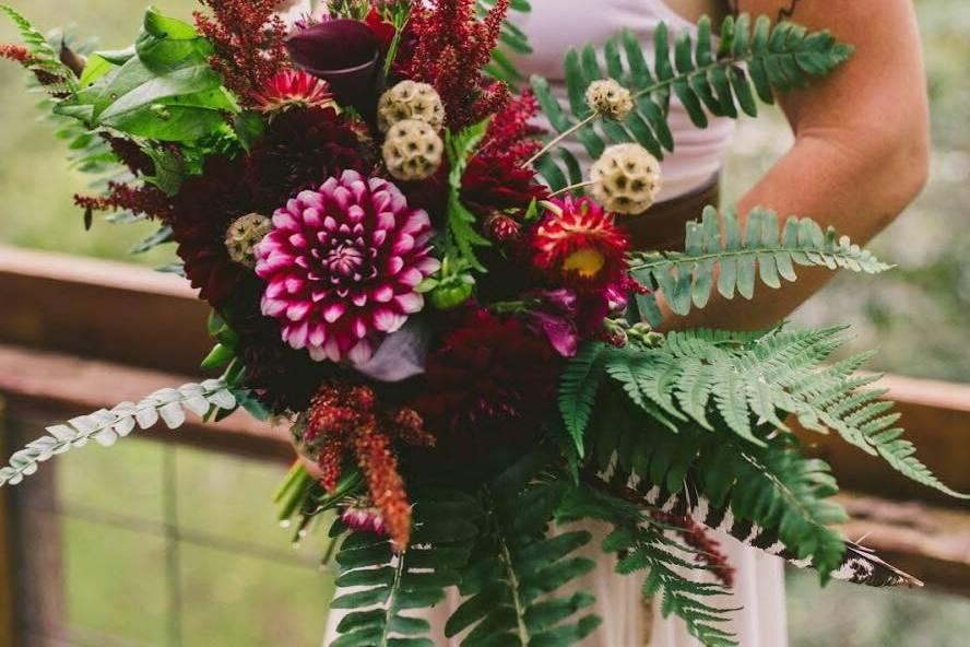 A wild bouquet