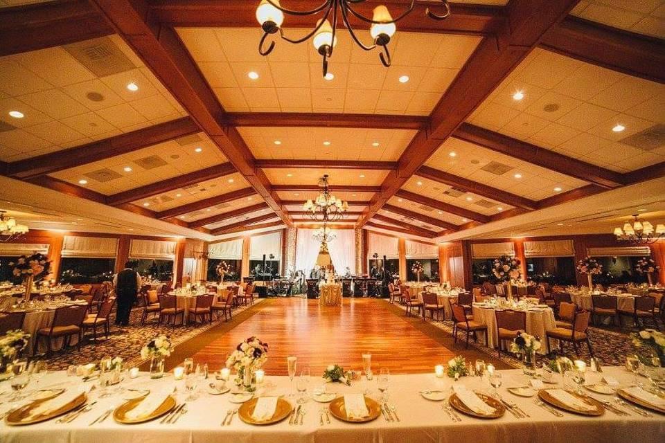Banquet reception setup