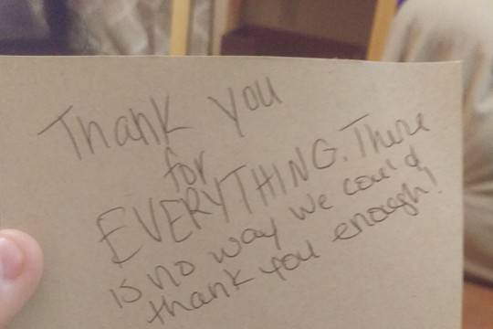 Thank you note!