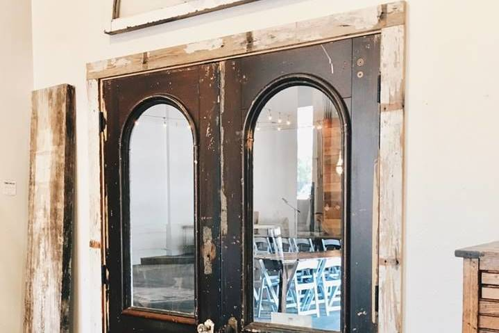 Antique doors from front room