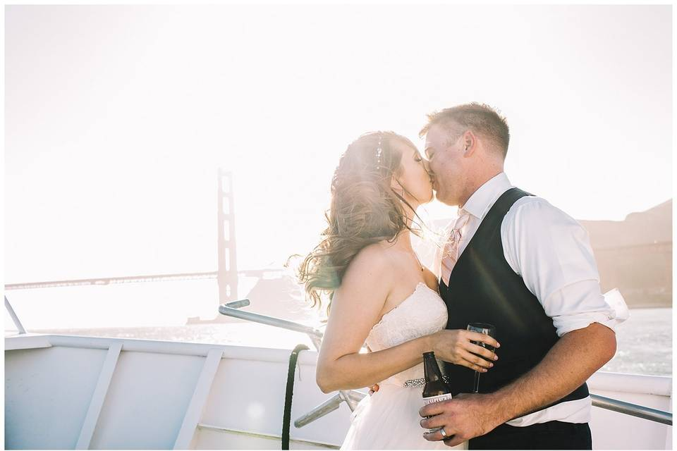 Hornblower cruise SF wedding