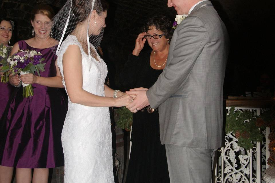 Alex and Renee January 14, 2012 beautiful ceremony at the Mon Ami