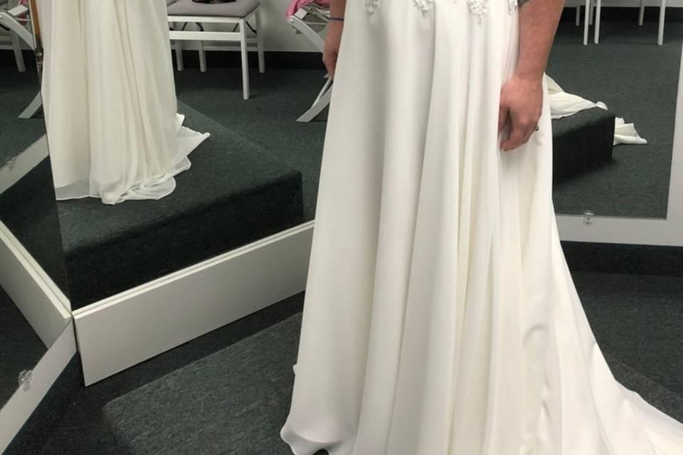 Happy bride-to-be