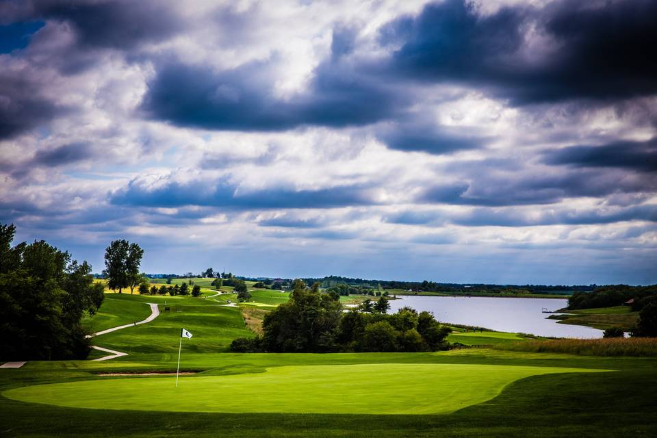 Golf course off back deck