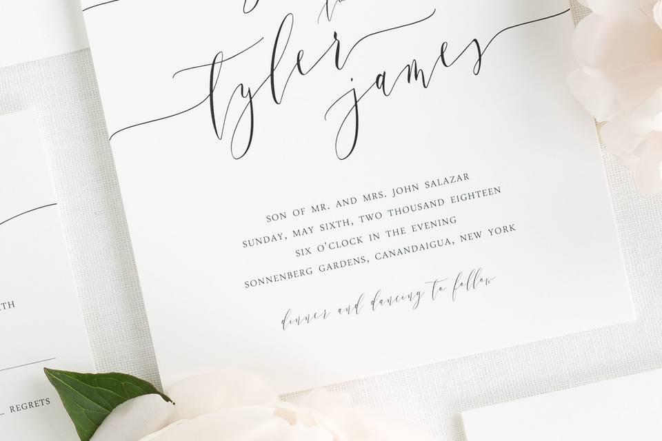 Wedding invite cover