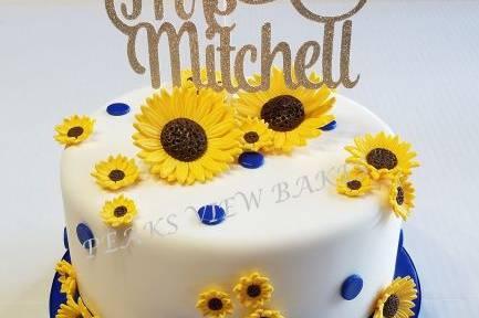 Bridal Shower Sunflower Cake
