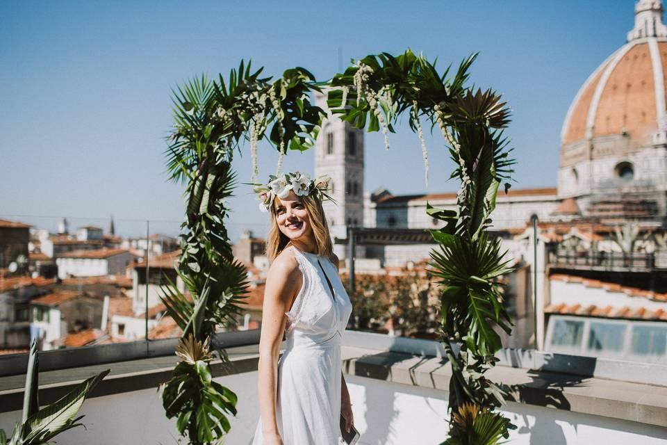 A bride at the altar
