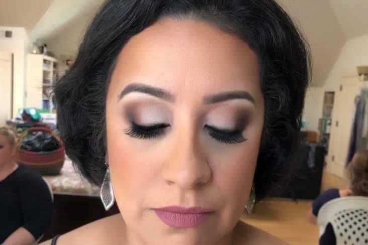 Finished makeup