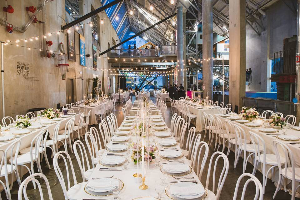 Long table rows, reception