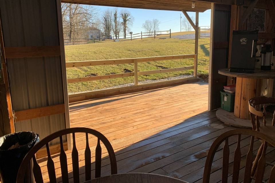 Saloon front porch view