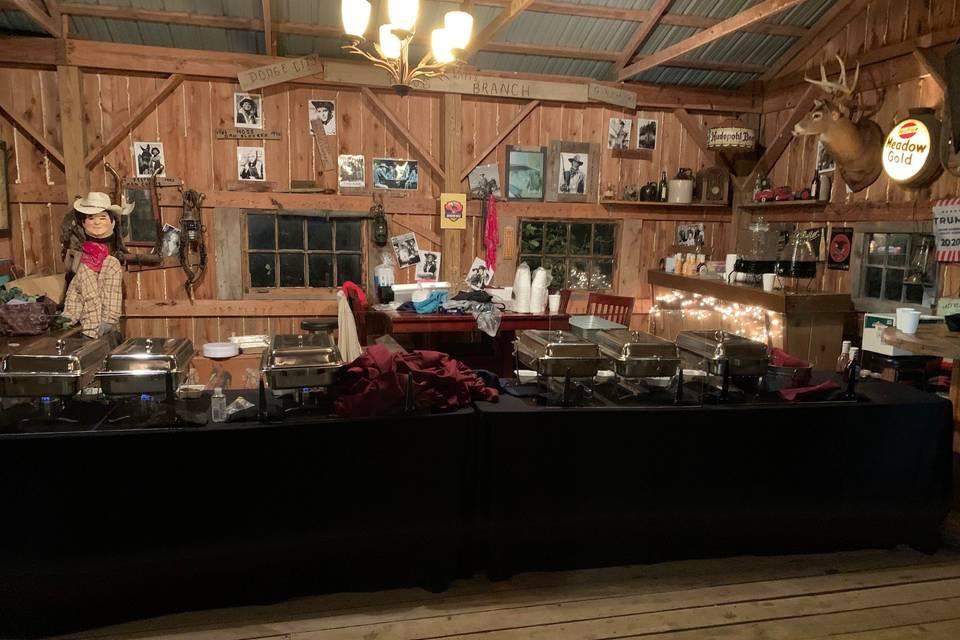 The Saloon buffet