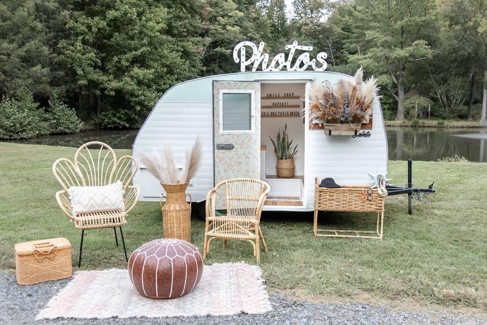 Outdoor booth decor