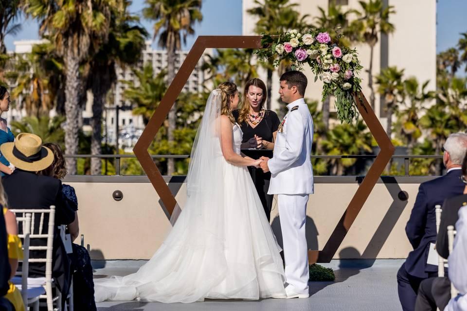 Beautiful wedding on The Bay