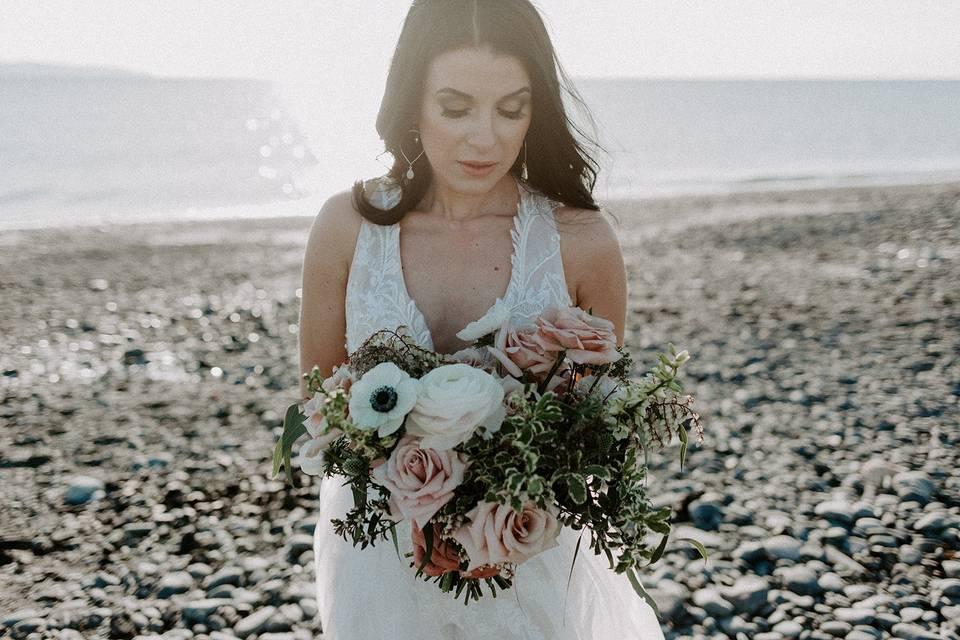 Bride at Bishops Beach, Homer