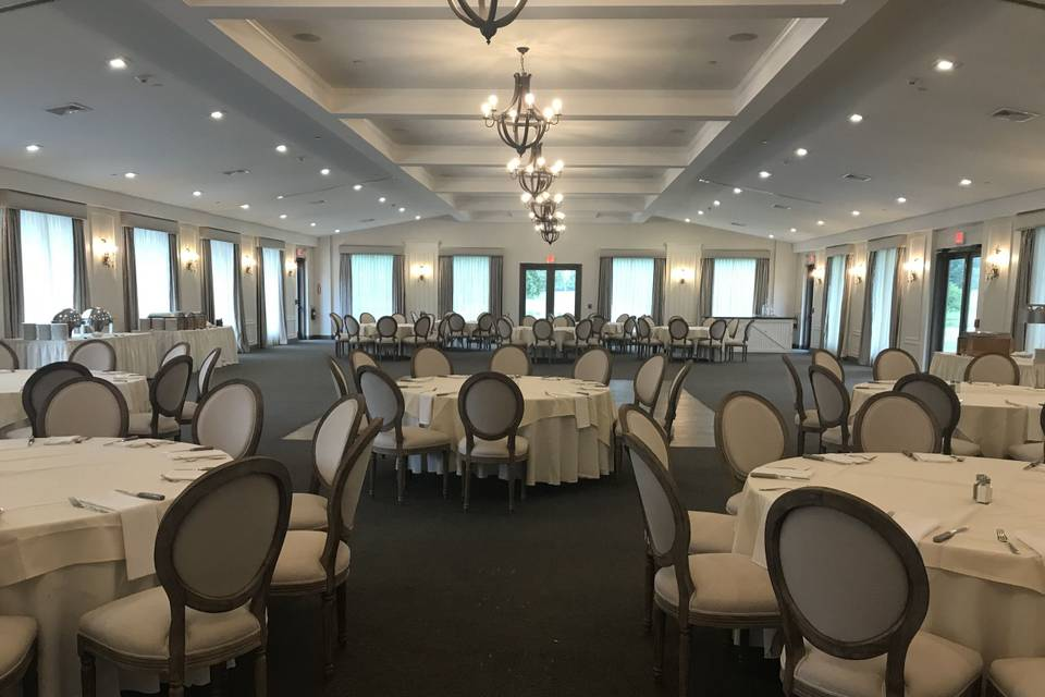 Banquet room with Louis chairs