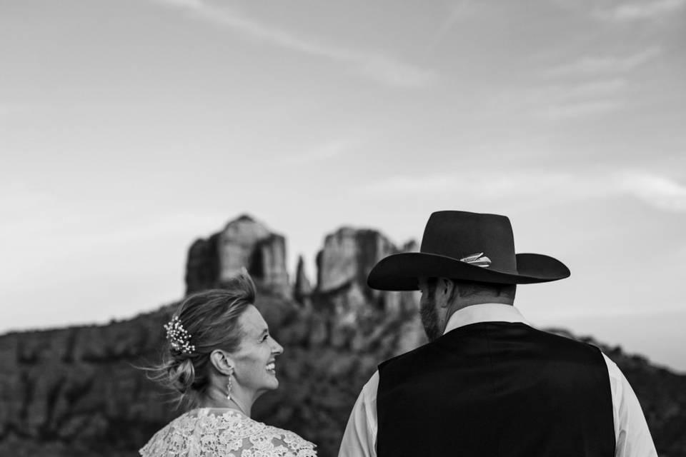 Sedona Western Wedding