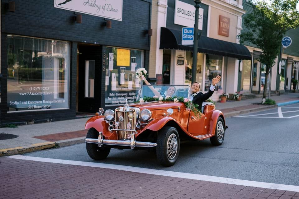 Driving Through Town