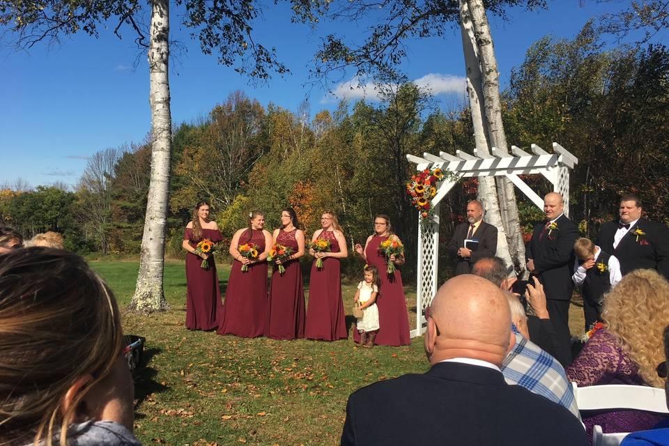 Autumn dream wedding