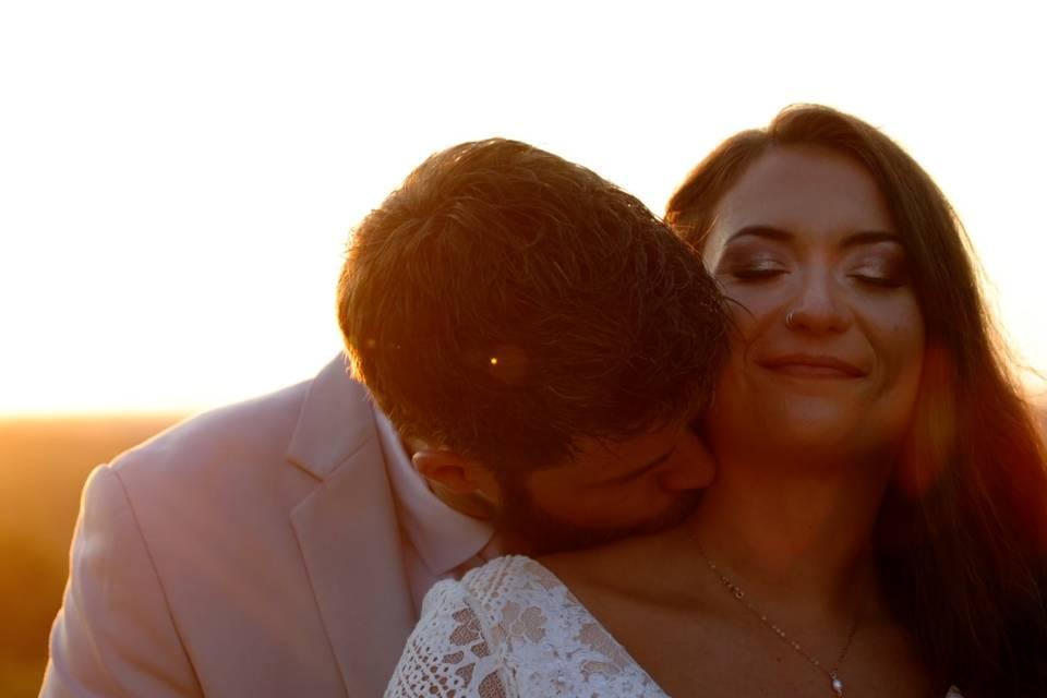 Kurtis & Roni as the sun sets