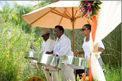 Steel Drum Band at wedding ceremony in Florida.Book for beach wedding and events in Florida, Georgia, South Carolina, North Carolina and Alabama