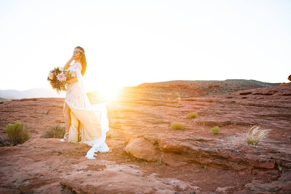 Destination wedding desert
