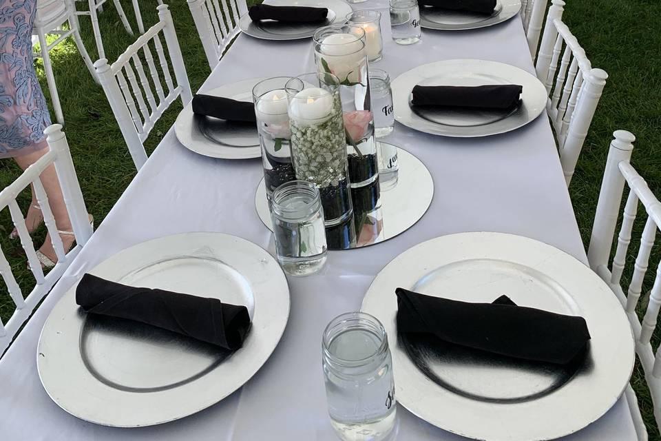 Backyard wedding glam