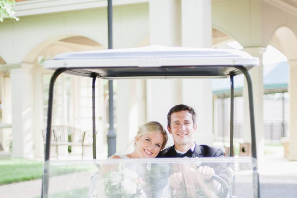 A ride on the golf cart