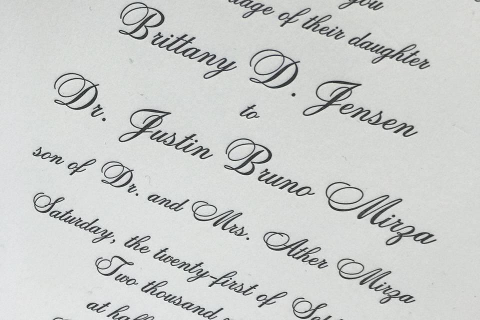 Letterpress elegance