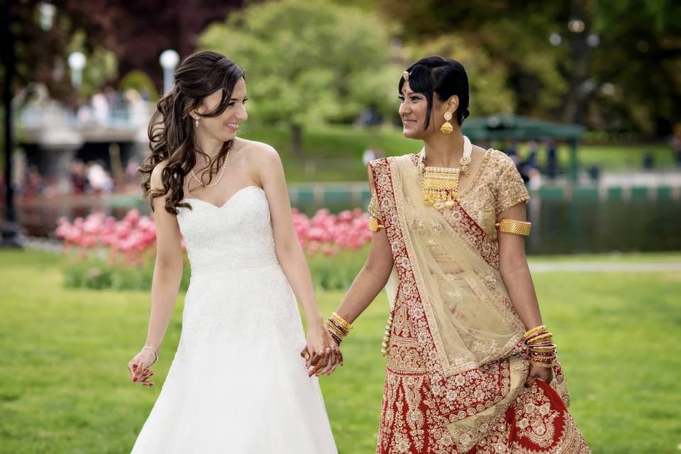 Boston garden wedding
