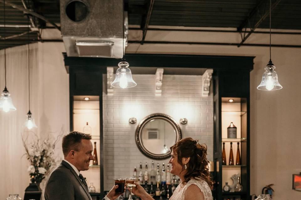 Bar shot with Sarah and Brian