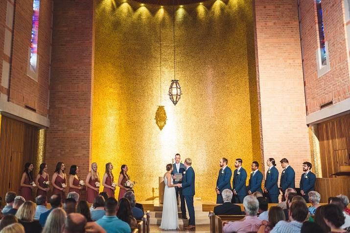A stunning ceremony