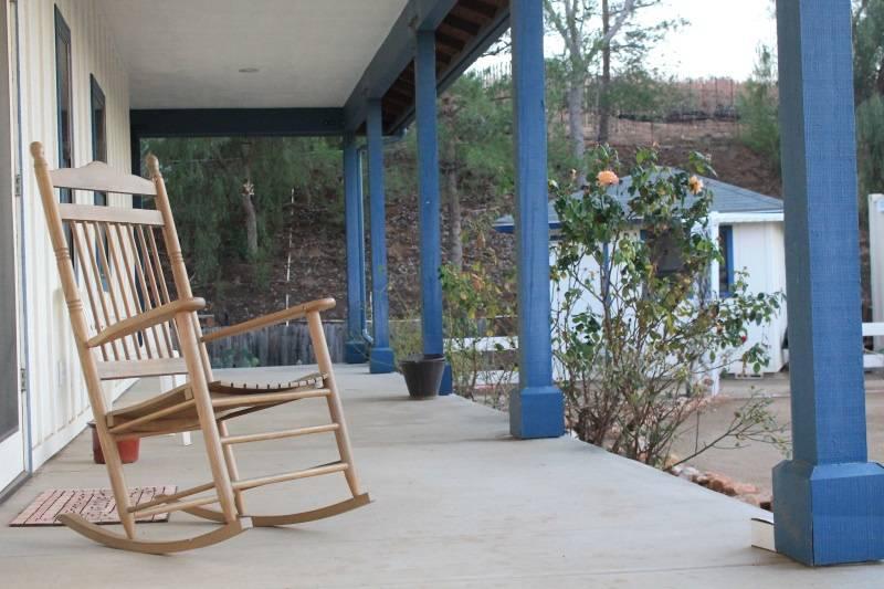 Wrap around porch seating
