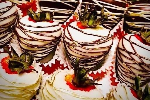 Chocolate covered dessert