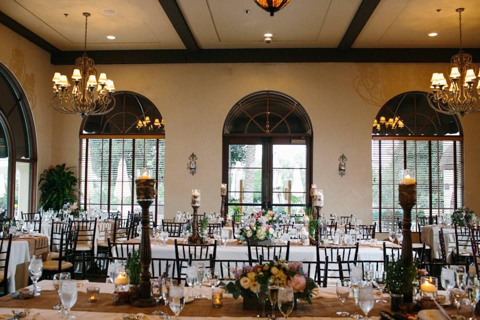 Banquet-style setup