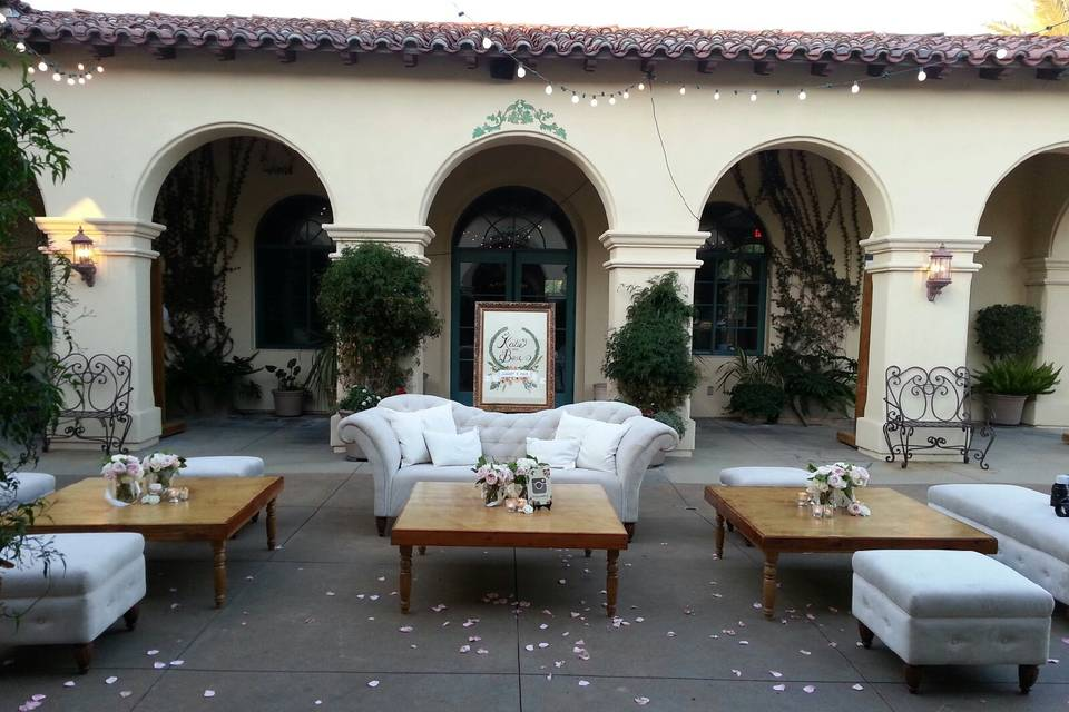 Outdoor terrace and lounge area