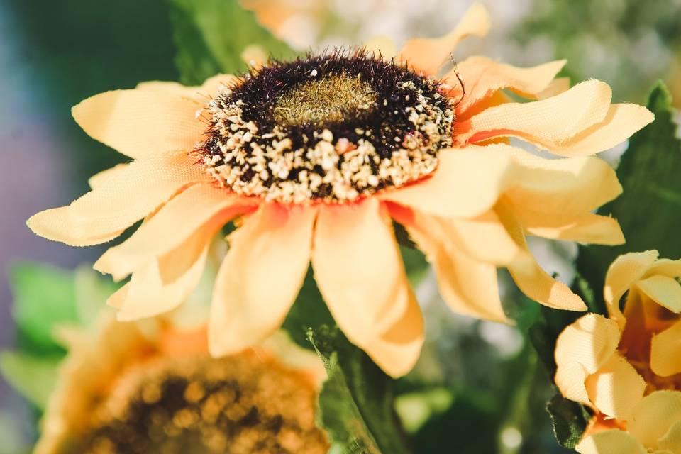 Sunflower garden wedding