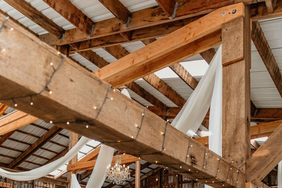 Rustic barn decor chiffon