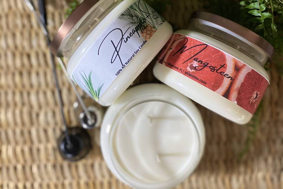 Scented intentions candles
