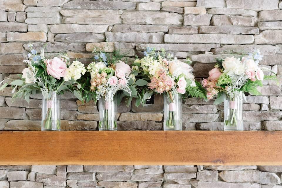 Arrangements in vases