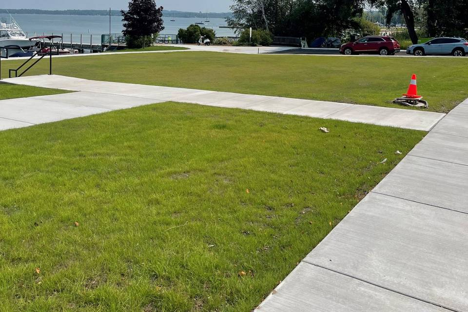 Side Lawn Available