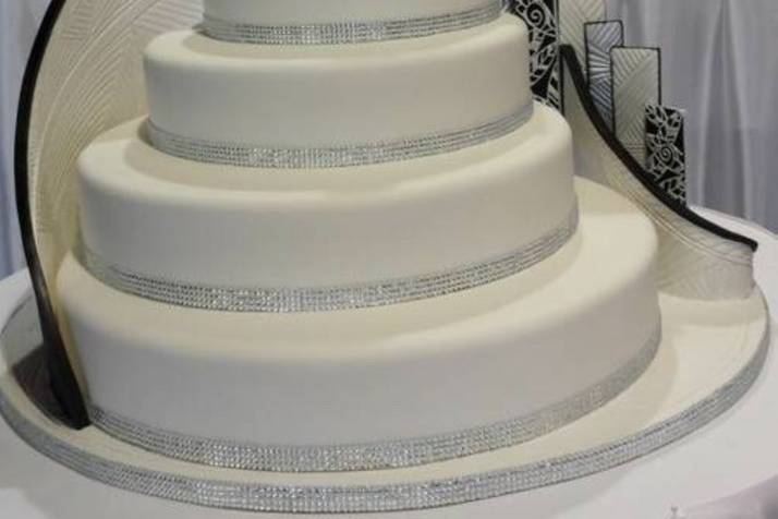Five tiered cake