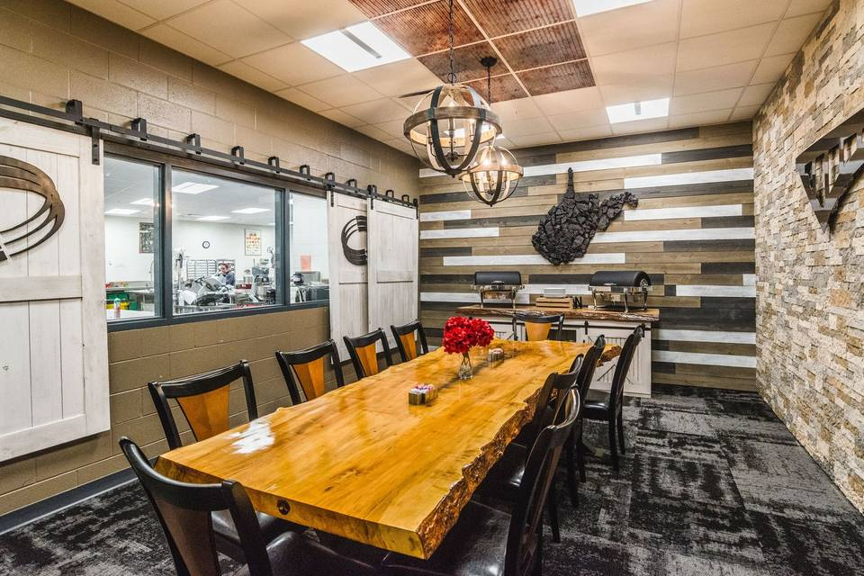 Tasting room with chef view